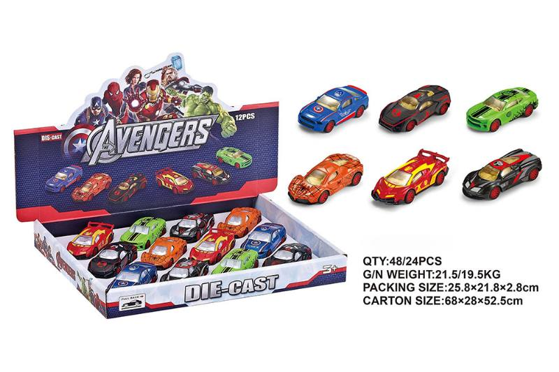 Alloy Warrior Avengers Sports Car Pullback Toy Car NO.TA262405