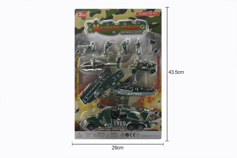 Scooter toy sliding military tractor set No.TA260037