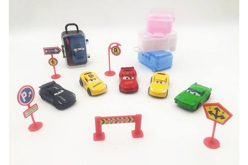 Cartoon suitcase car mobilization alloy car (with a box inside the car *1 road s No.TA254720