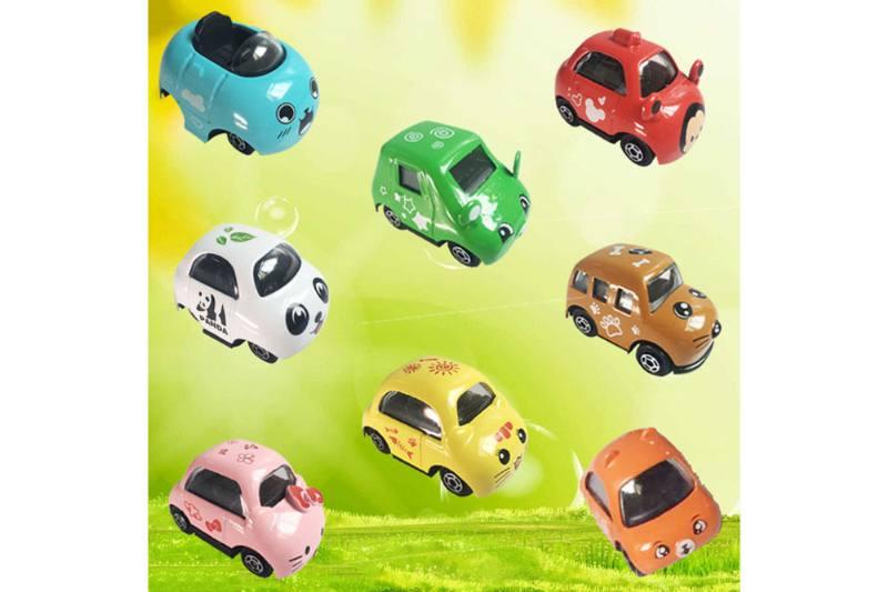 Alloy Toys Sliding Cartoon Alloy Car (8 Mixed) No.TA254724