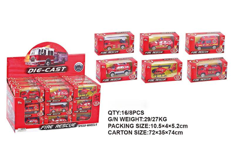Alloy fire truck alloy toy car NO.TA262411