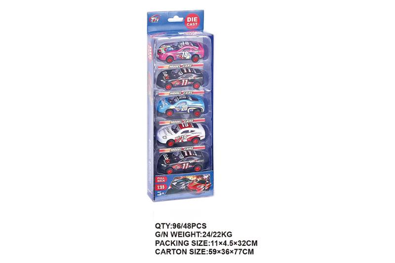1:55 pull back iron racing car 5 Pack Pull back toy car NO.TA262475