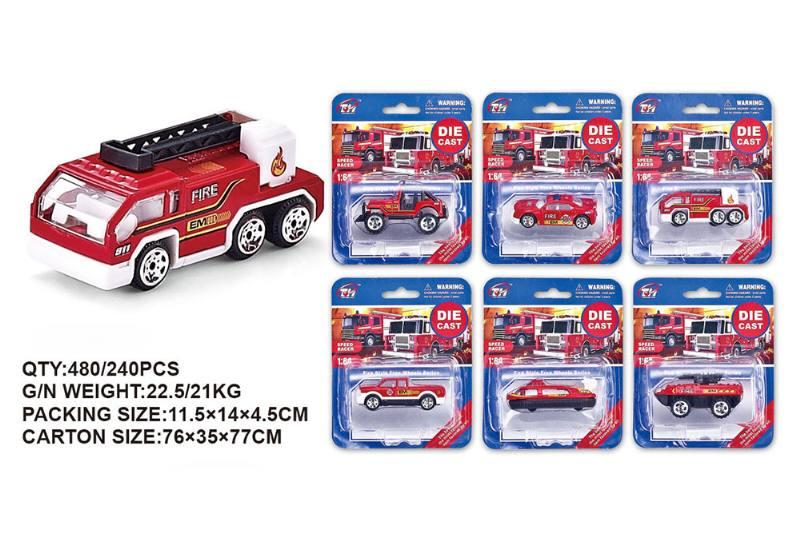 1:64 alloy fire truck alloy toy car NO.TA262481