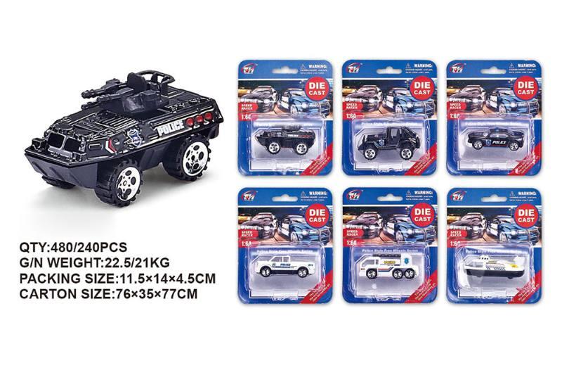 1:64 alloy police car alloy toy car NO.TA262482