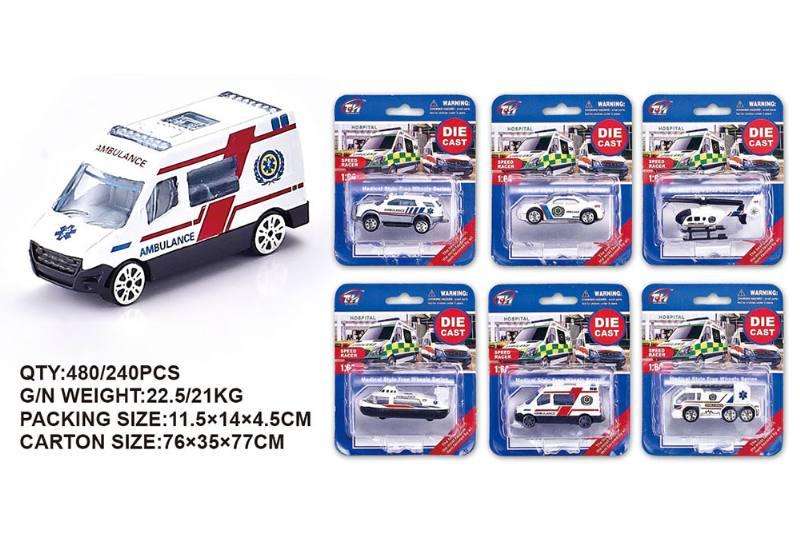 1:64 alloy medical car alloy toy car NO.TA262483