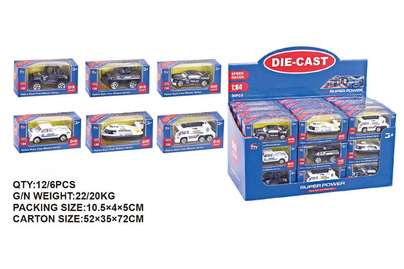 1:64 alloy police car alloy toy car NO.TA262487