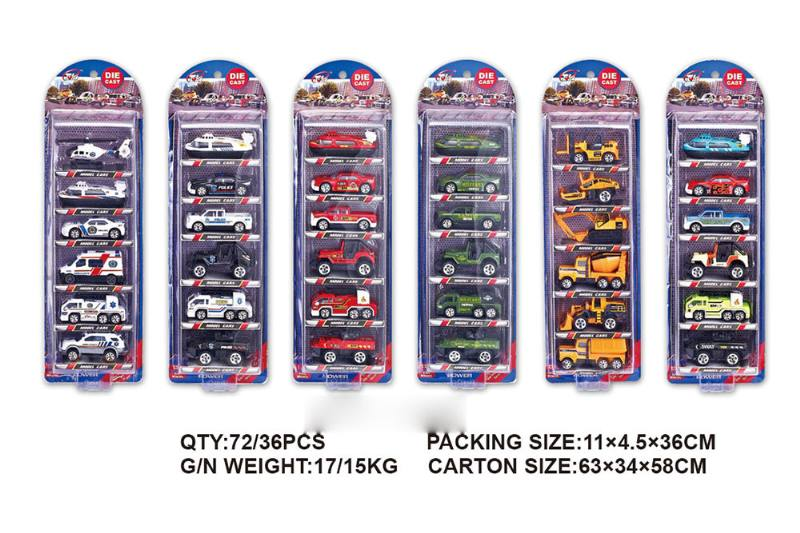 1:64 alloy car 6 Pack Alloy toy car NO.TA262490