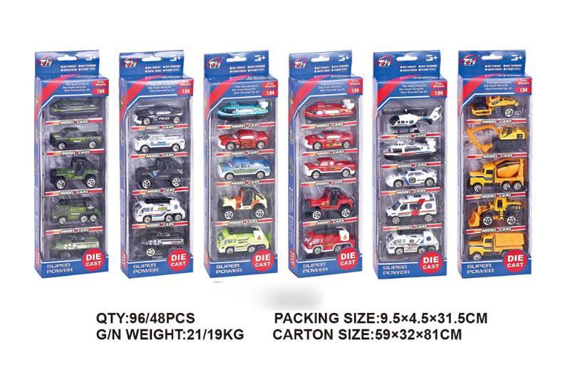 1:64 alloy car 5 packs alloy toy car NO.TA262492