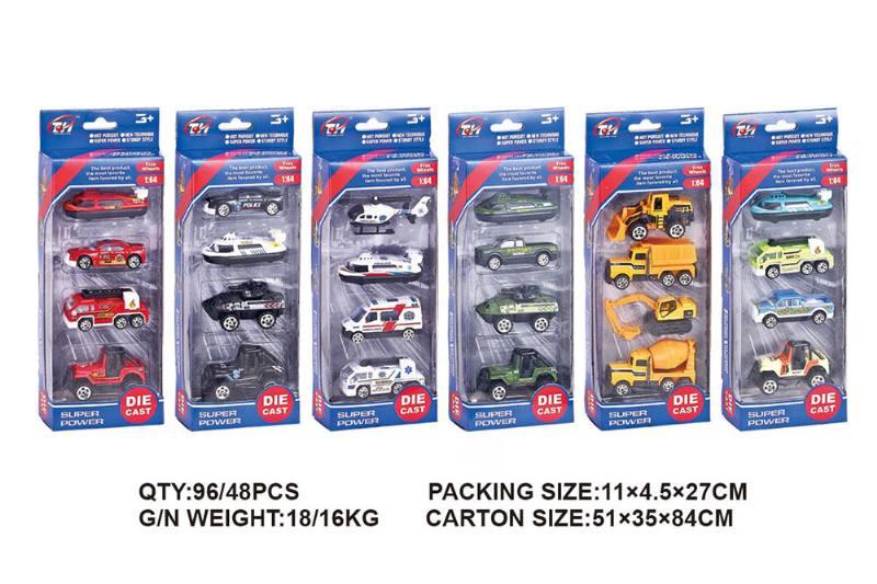 1:64 alloy trolley 4 packs alloy toy car NO.TA262494