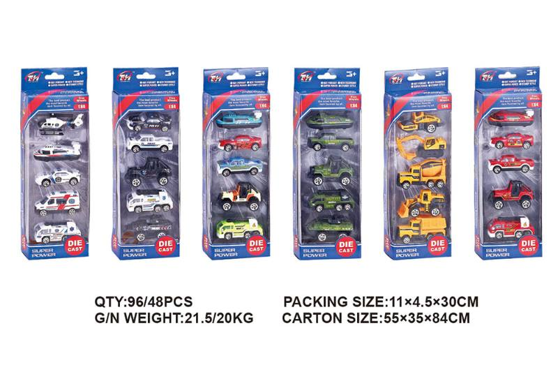1:64 alloy car 5 packs alloy toy car NO.TA262495