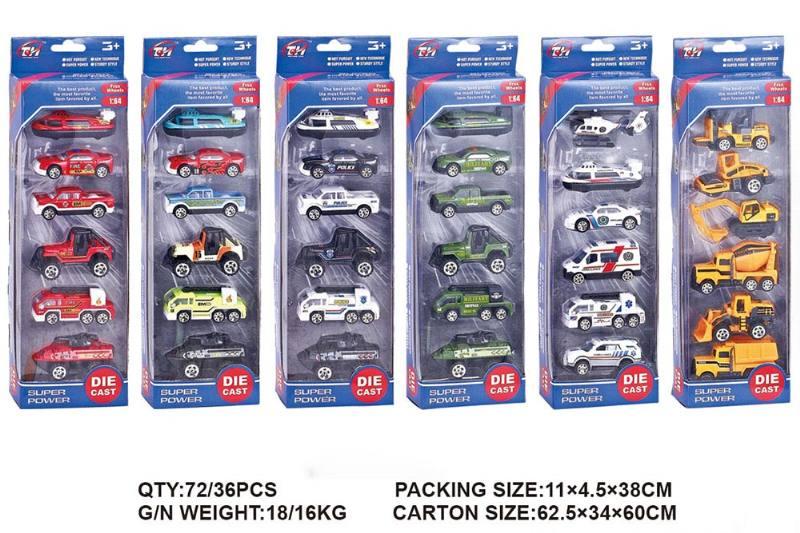 1:64 alloy car 6 Pack Alloy toy car NO.TA262496