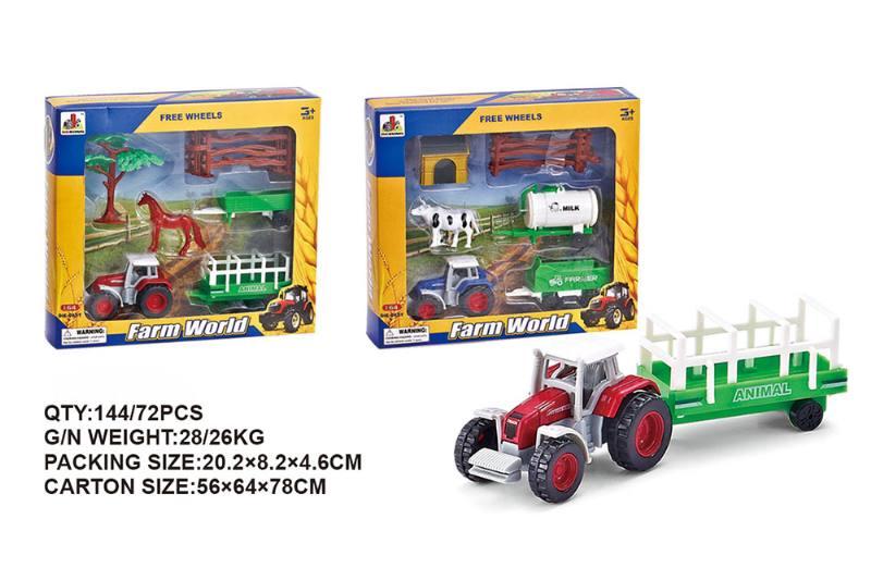 Sliding alloy farmer combination alloy toy car NO.TA262504