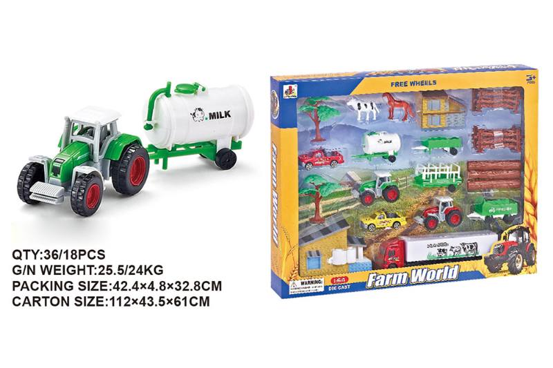 Sliding alloy farmer combination alloy toy car NO.TA262506