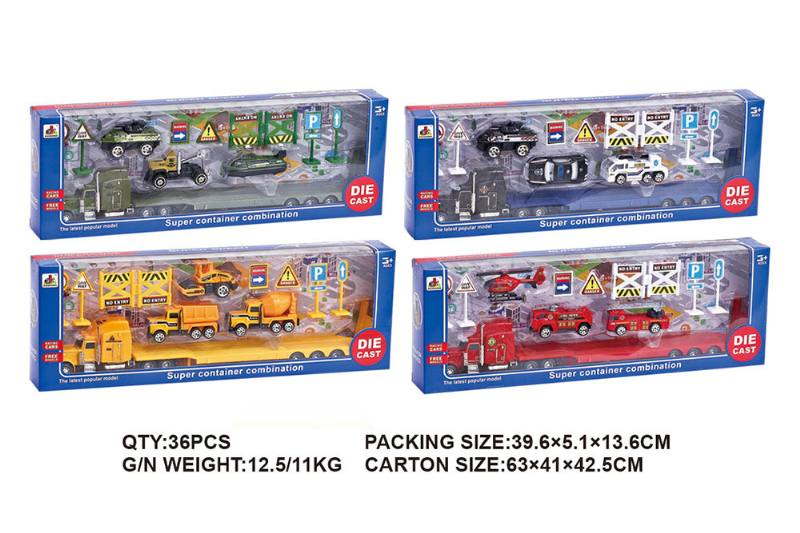 American alloy trailer combination alloy toy car NO.TA262544