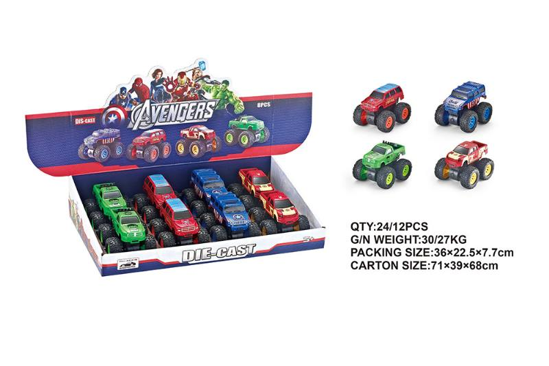 Alloy Double Inertia Avengers Big Wheeler Alloy Toy Car NO.TA262563