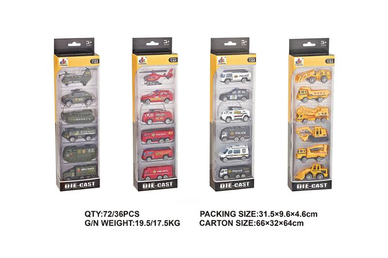 6 Pack Alloy Car Alloy Toy Car NO.TA262570