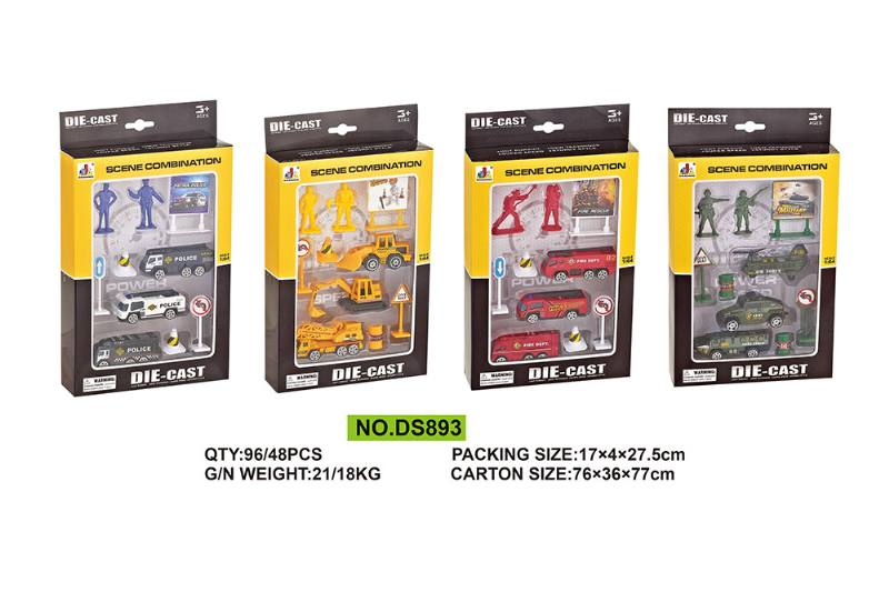 10 Pack Alloy Combination Alloy Toy Car NO.TA262573