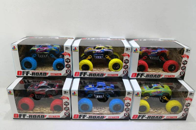 Double back force shock absorber bigfoot monster alloy toy car NO.TA262592