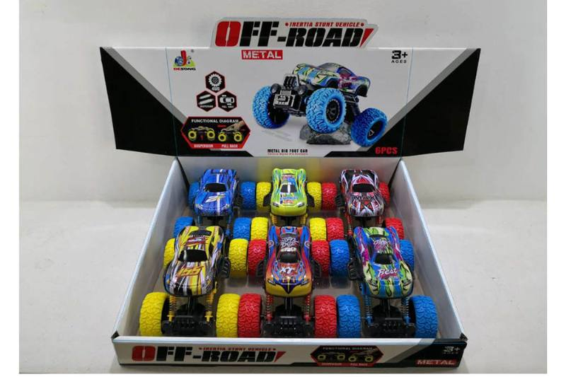 Double back force shock absorber bigfoot monster alloy toy car NO.TA262593