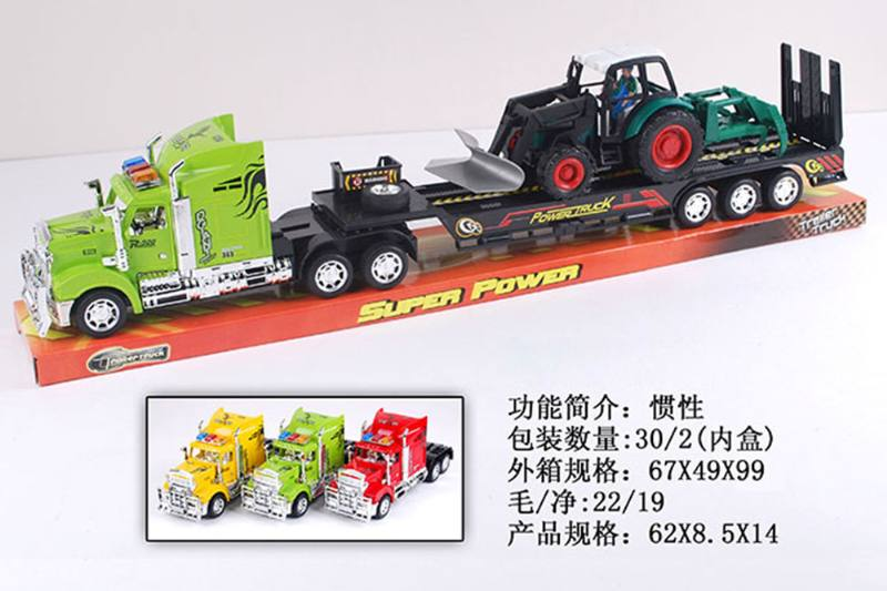 Simulated inertial engineering vehicle toy tractor tow 1 large sliding farmer No.TA255567