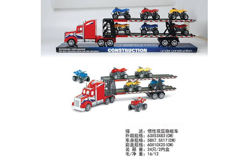 Double-layer tractor, 6 sliding beach motorcycles No.TA255597