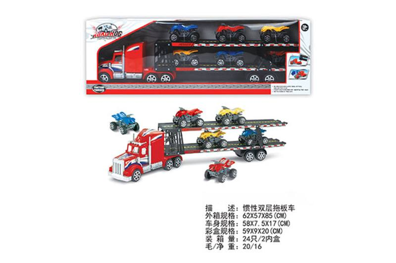 Double-layer tractor, 6 sliding beach motorcycles No.TA255598