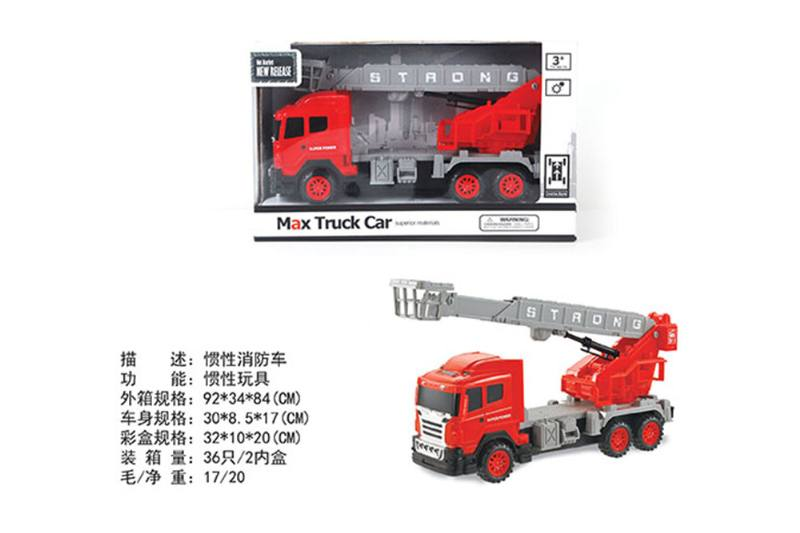 Inertial fire truck friction cars No.TA255601