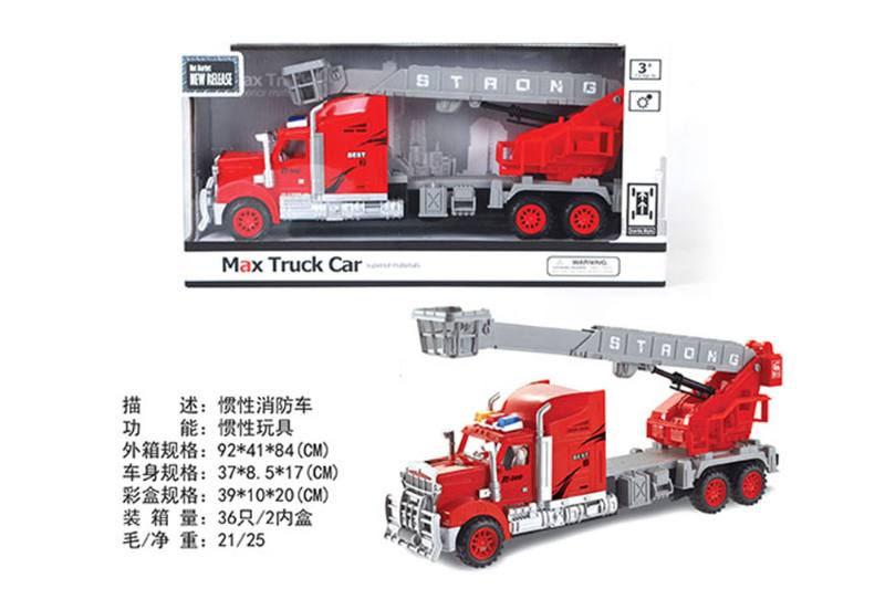 Inertial fire truck friction cars No.TA255604