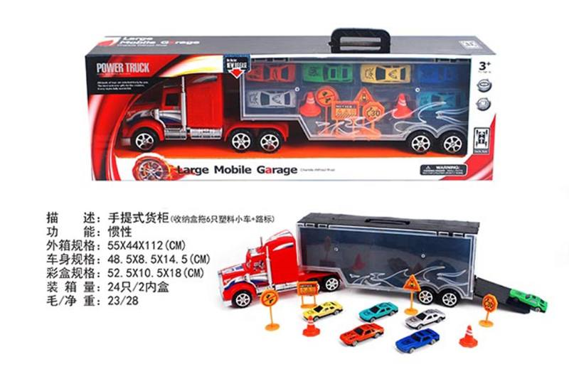 Portable container truck (towing 6 plastic trolleys + road signs) No.TA255607