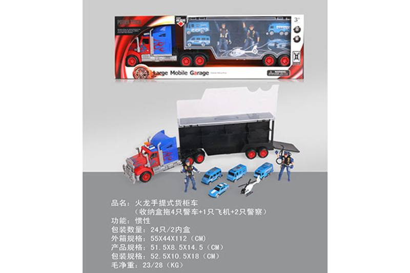 Fire Dragon portable container truck (towing 4 police cars + 1 aircraft + 2 poli No.TA255613