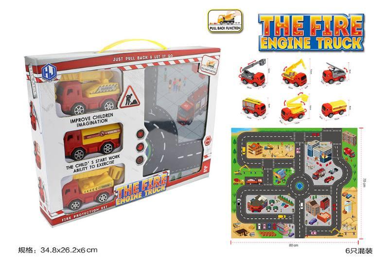 Pull back cars Construction vehicle toys No.TA259422