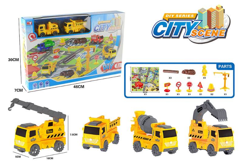 Friction toy Inertia car set No.TA260417