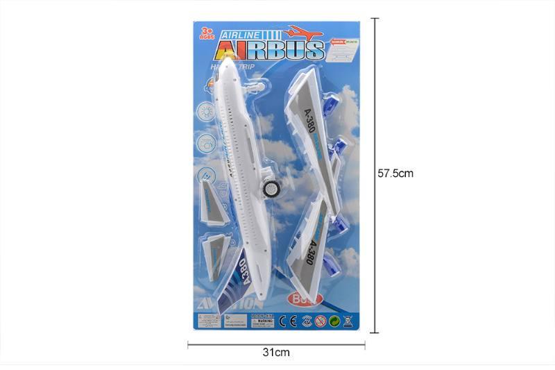 Aircraft toy inertia light music plane No.TA258771