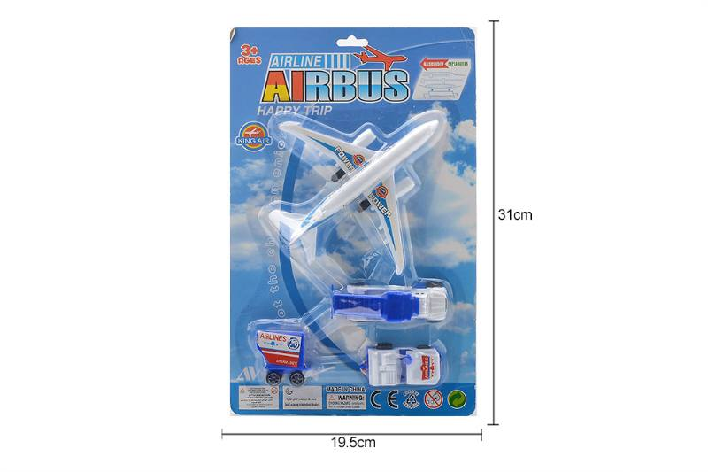 Pull back set toy Pull back plane + 3 airport car No.TA258772