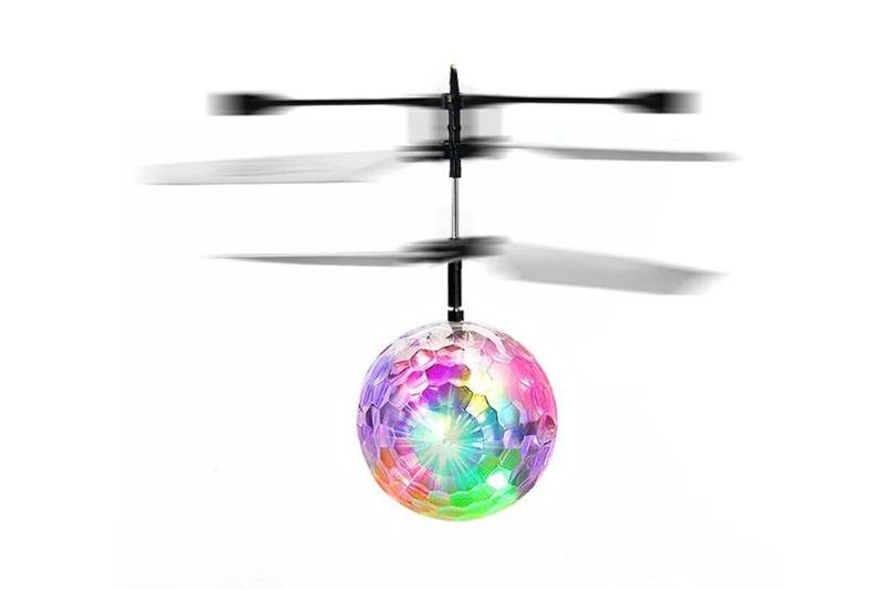 Induction UFO Aircraft Toy Crystal Ball Monochrome No.TA255769
