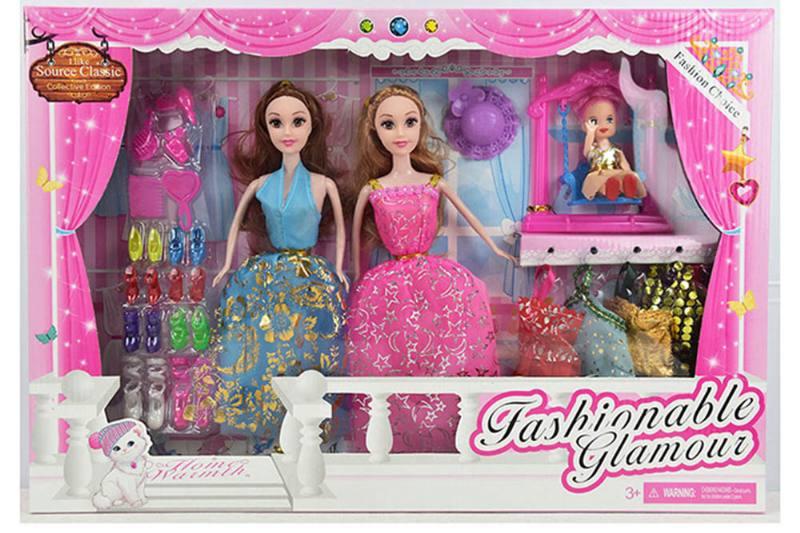 Barbie Toys 11.7 inch Solid body Dress Up Barbie dolls No.TA254939