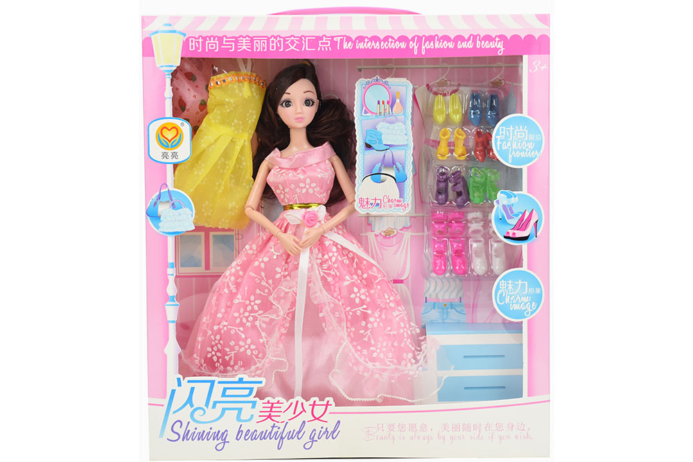 11.5 inch Barbie dolls toys with 9 joints 3D real eyes beautiful girlNo.TA256166