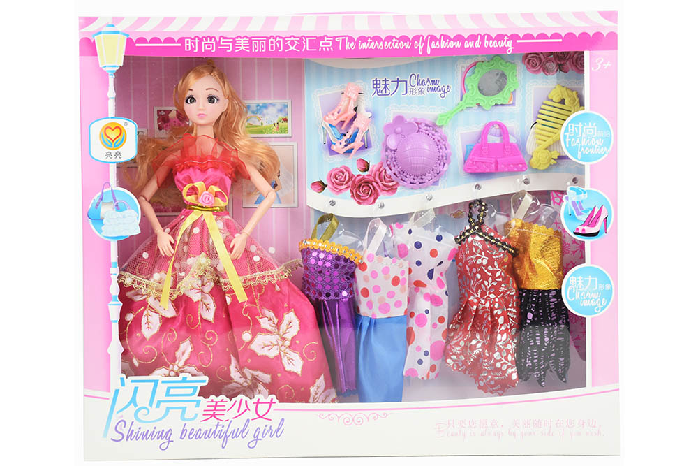 11.5 inch Barbie dolls toys with 9 joints 3D real eyes beautiful girlNo.TA256167