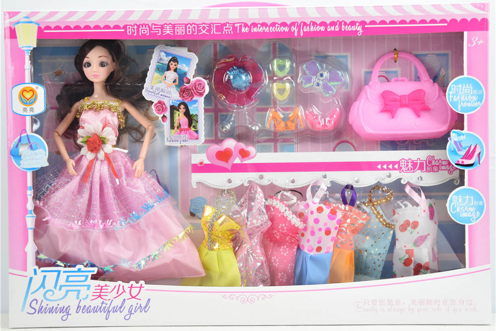 Barbie dolls toys with 9 joints 3D real eyes beautiful girlNo.TA256169