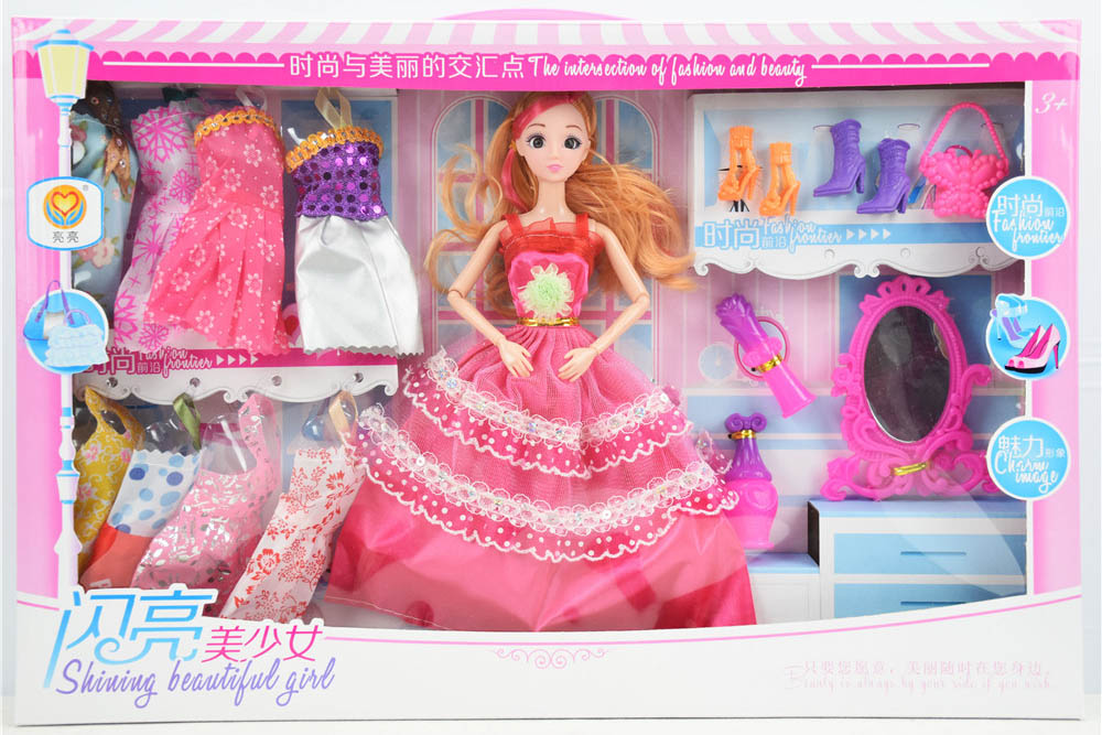 Barbie dolls toys with 9 joints 3D real eyes beautiful girlNo.TA256170