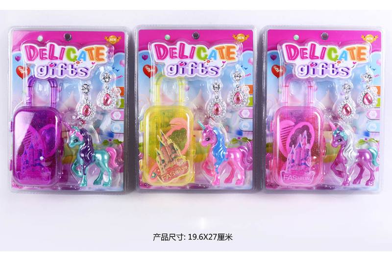 Barbie Toy Trolley Case + Horse No.TA260062