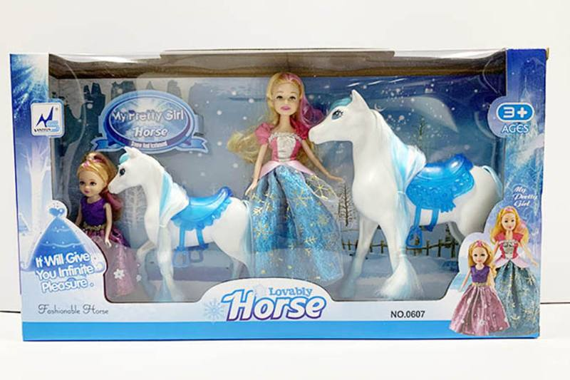 Barbie doll toys with horse No.TA260190