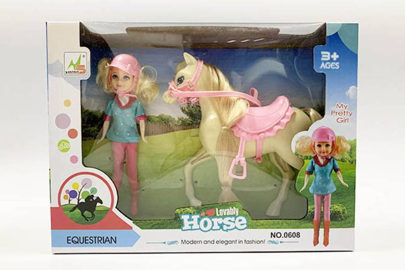 Barbie doll toys with horse No.TA260191