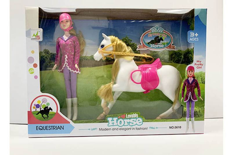 Barbie doll toys with horse No.TA260193
