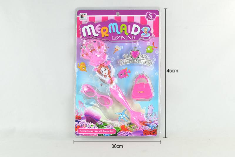 Doll Toy Magical Mermaid with Lights and Crown Glasses Tote No.TA260515