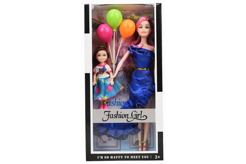 Barbie Toys 11 Inch Evening Barbie + 5 Inch Female Kelly + Balloon No.TA261164
