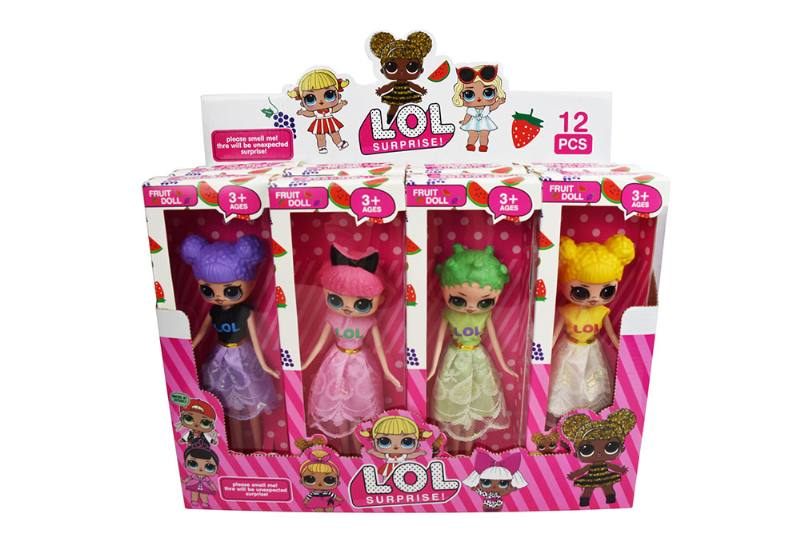 9.5-inch surprise doll 4 mixed (12 small boxes with fragrance) NO.TA262308