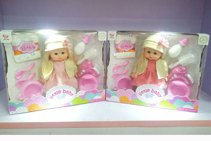 Vinyl doll toys 14 inch silicone will pee baby girl No.TA256994