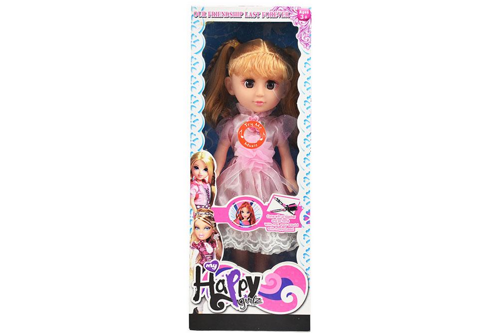 Vinyl toys 18-inch enamel hand blowing body live-eyed girls IC music No.TA261096
