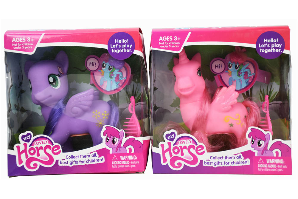 Vinyl toys in Pegasus with comb clips with light music No.TA261151